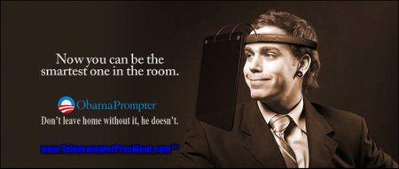 Obama prompter