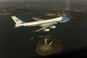 Photo Released - AIR FORCE ONE Over New York City from TeleprompterPresident.com