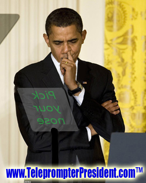 Teleprompter: Pick Your Nose
