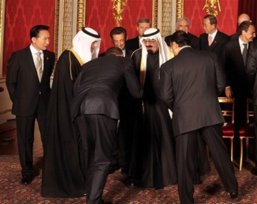 Obama Bows to Saudi King and Denies It.