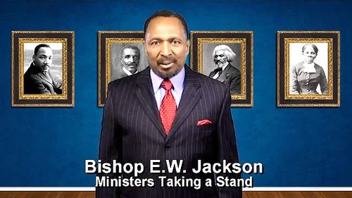 A short message from Bishop E.W. Jackson to fellow black Christians about the evil being done by the Democrat party.